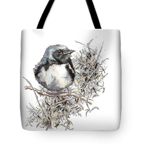 Black-throated Blue Warbler Tote Bag