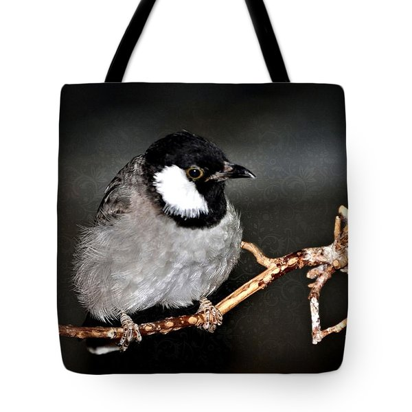 Black Throated Laughing  Thrush Tote Bag