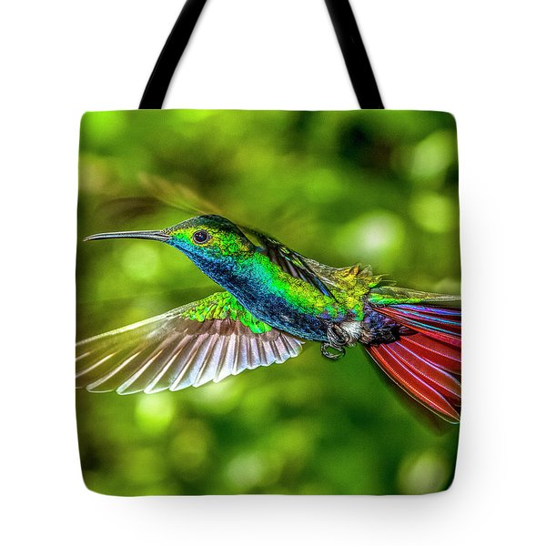 Tote Bag featuring the photograph Black Throated Mango Sparkles by James Solomon