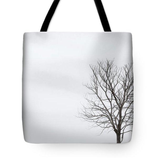 Black Tree White Sky Tote Bag
