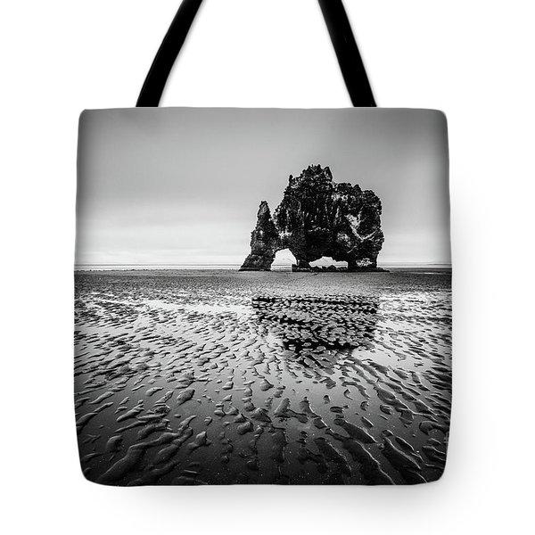 Black Troll Tote Bag