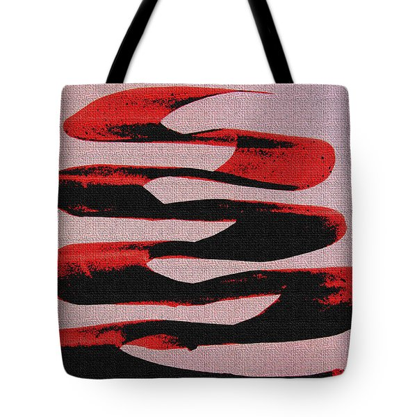 Black Walnut Ink Abstract #10 Tote Bag by Tom Janca