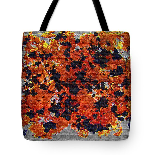 Black Walnut Ink Abstract With Splats Tote Bag by Tom Janca