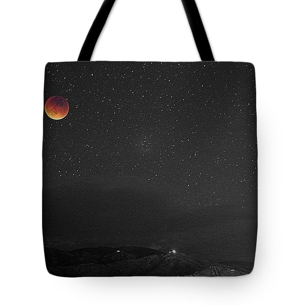 Black White And Blood Tote Bag by Matt Helm