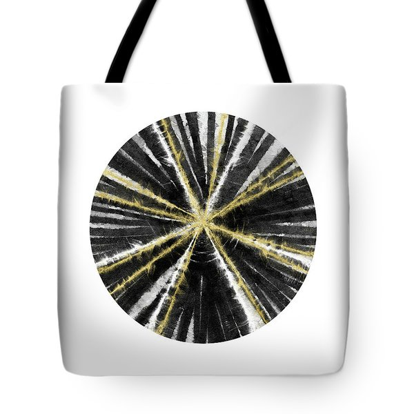 Black, White And Gold Ball- Art By Linda Woods Tote Bag