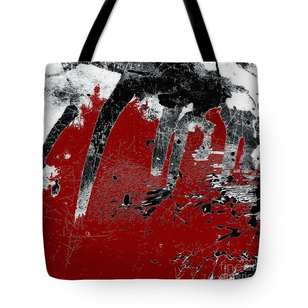 Black White Red Allover I Tote Bag by Lee Craig