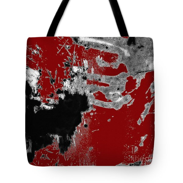 Black White Red Allover  II Tote Bag by Lee Craig