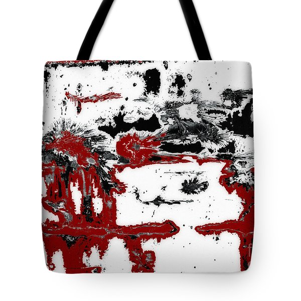Black White Red Allover  IIi Tote Bag by Lee Craig