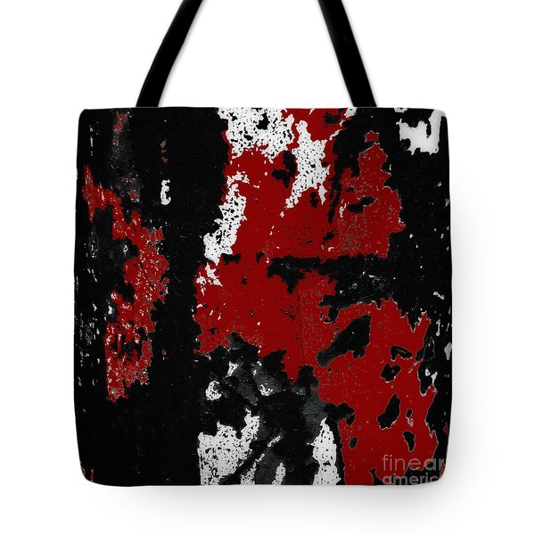 Black White Red Allover  Iv Tote Bag by Lee Craig