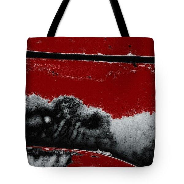 Black White Red Allover  V Tote Bag by Lee Craig