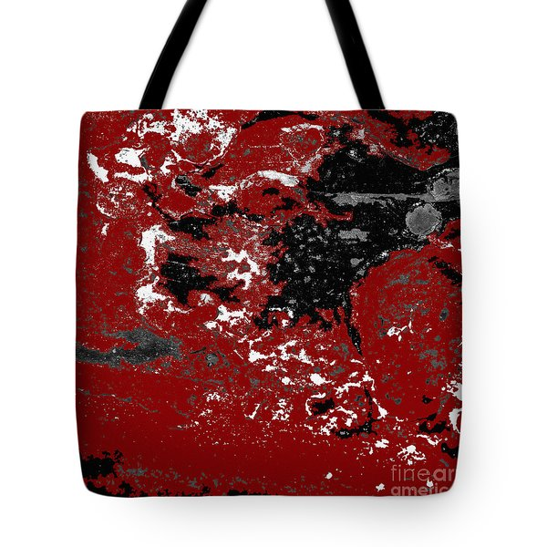 Black White Red Allover  Vi Tote Bag by Lee Craig
