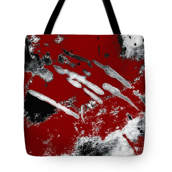 Black White Red Allover  Vii Tote Bag by Lee Craig