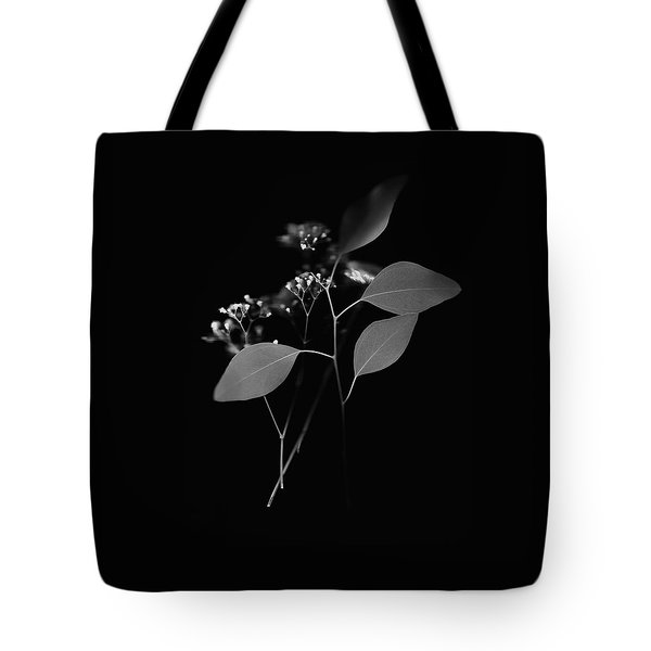 Floating Black And White Tote Bag