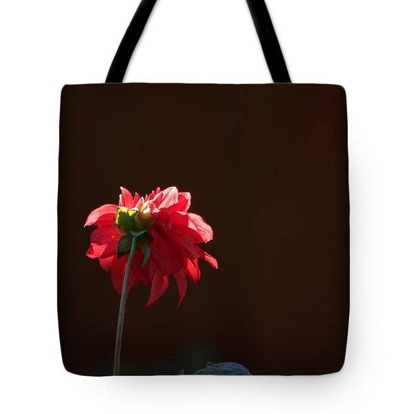 Black With Rose Tote Bag
