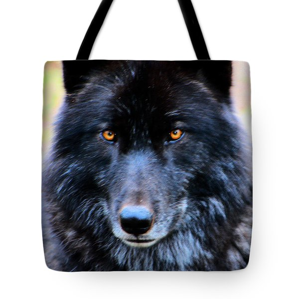 Black Wolf Tote Bag