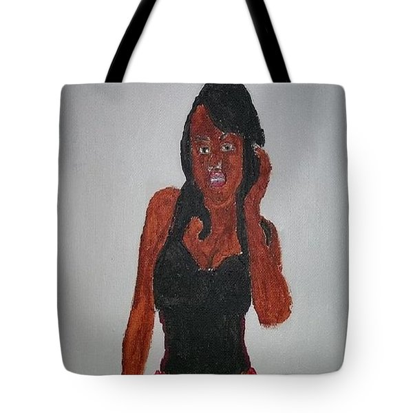 Black Woman Of The 2000's Tote Bag by William Sahir House