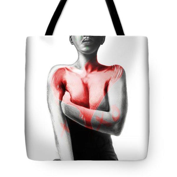 Black Xoxo Tote Bag by AC Williams