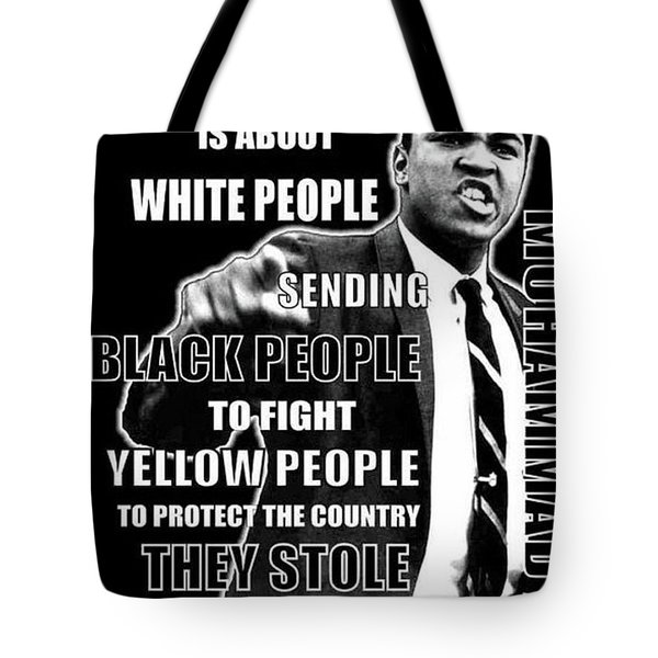 Black Yellow Red Ali Tote Bag