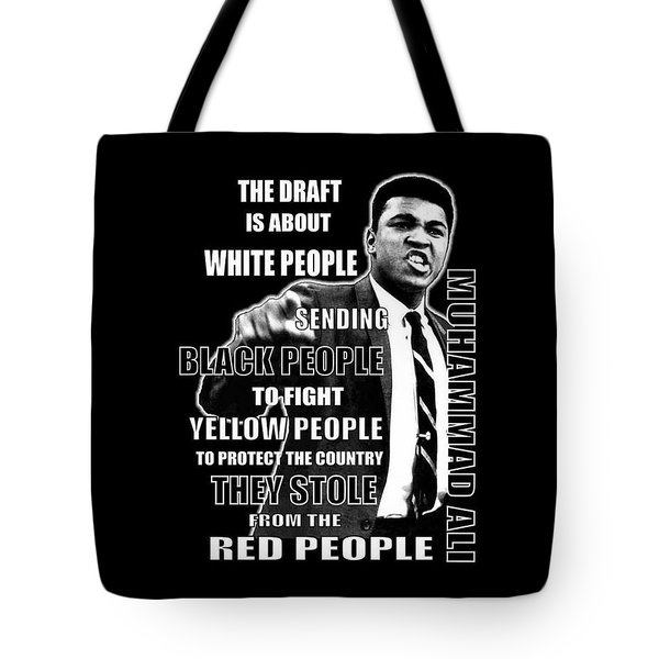 Black Yellow Red Ali Tote Bag