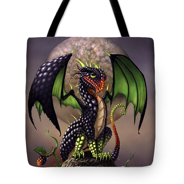 Blackberry Dragon Tote Bag