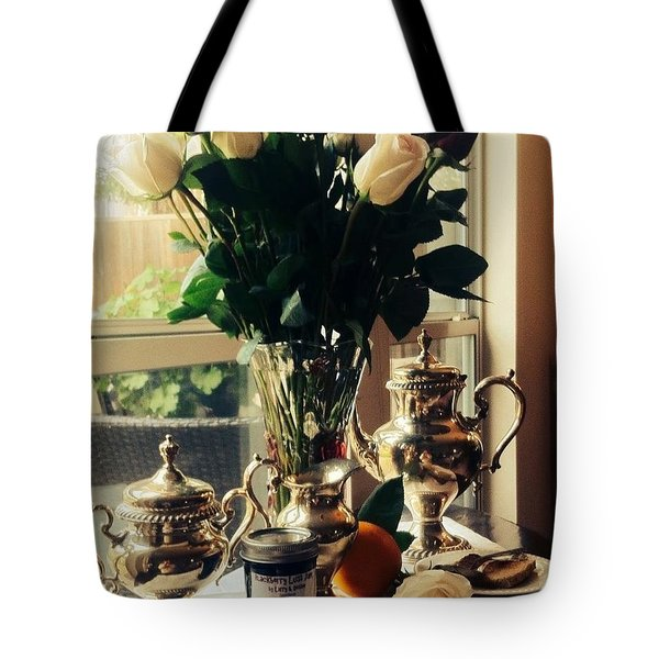 Blackberry Lust Jam Morning Tote Bag