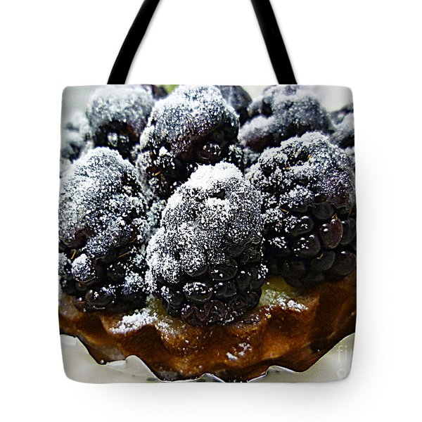 Blackberry Tart Tote Bag by Renee Trenholm