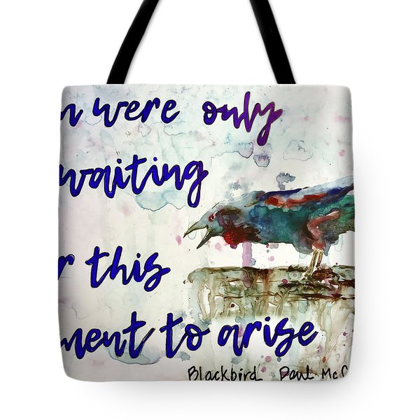 Tote Bag featuring the painting Blackbird by Diane Fujimoto
