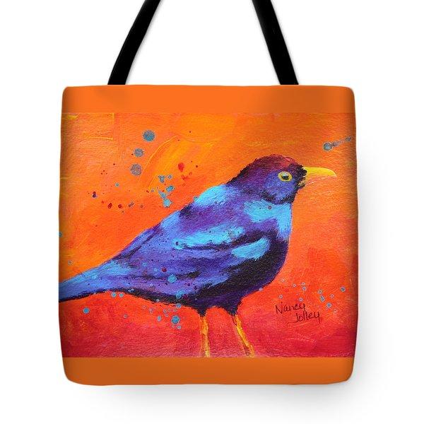 Blackbird II Tote Bag by Nancy Jolley