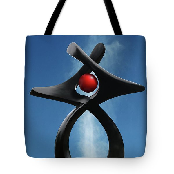 Tote Bag featuring the photograph Blackbird Sculpture by Christopher McKenzie