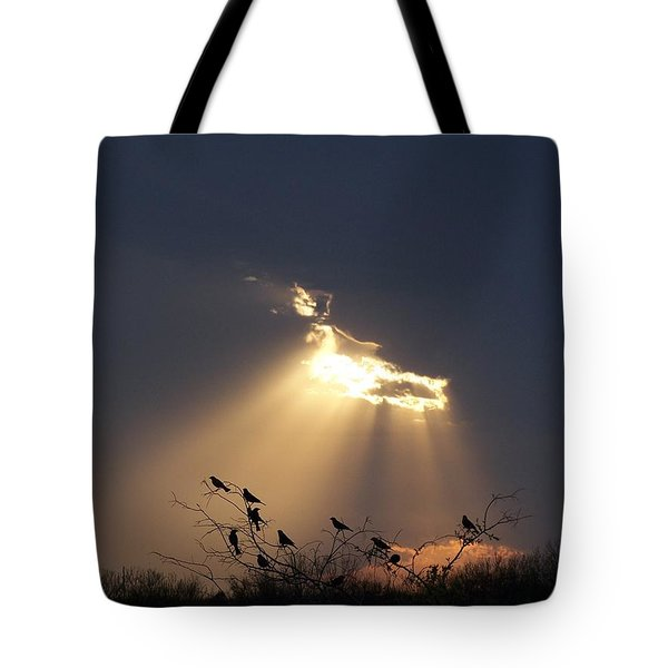 Blackbird Sky Tote Bag by Gale Cochran-Smith