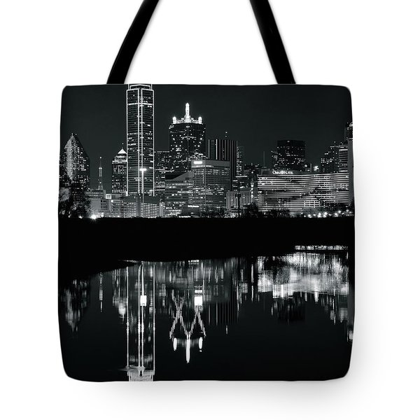 Blackest Night In Big D Tote Bag by Frozen in Time Fine Art Photography
