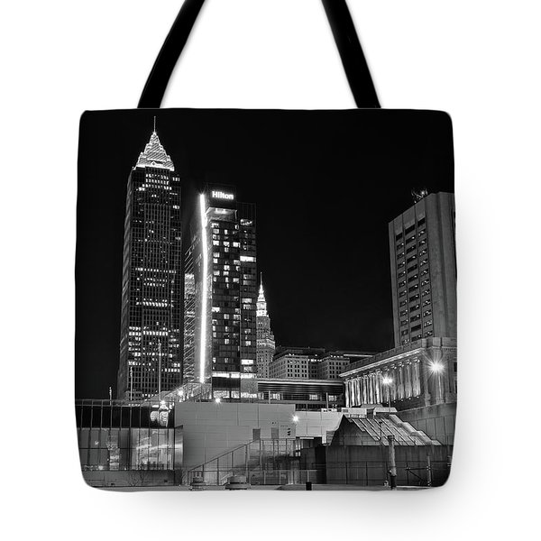 Tote Bag featuring the photograph Blackest Night In Cle by Frozen in Time Fine Art Photography