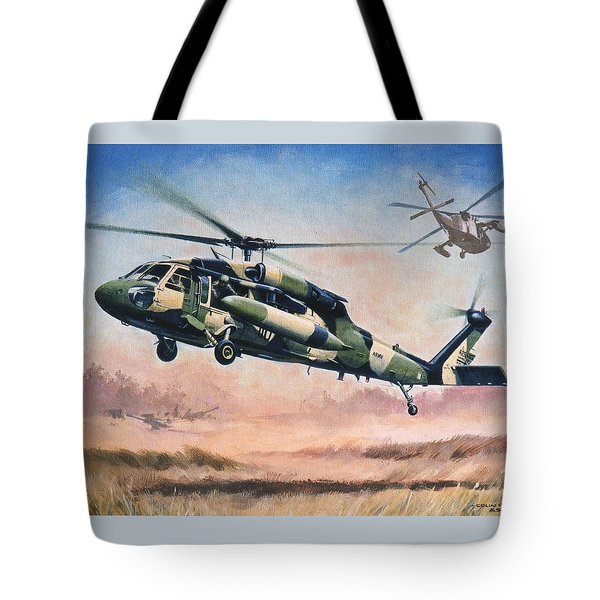 'blackhawk Manoevours' Tote Bag