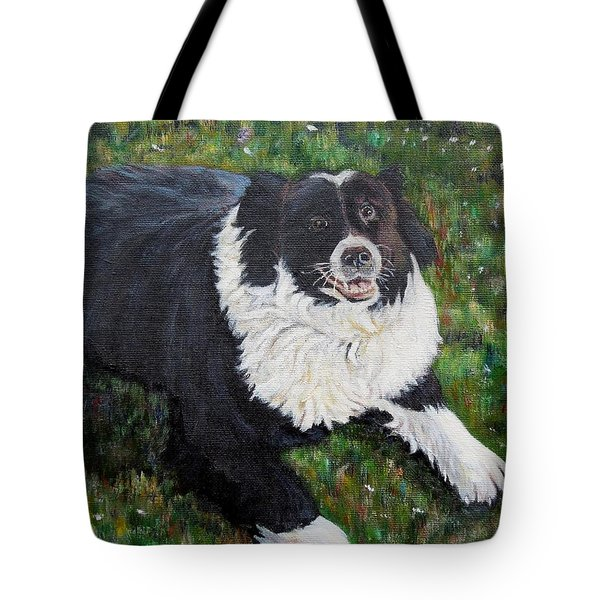 Tote Bag featuring the painting Blackie by Marilyn  McNish