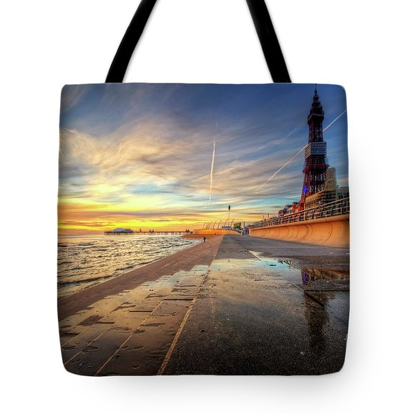 Tote Bag featuring the photograph Blackpool Sunset by Yhun Suarez