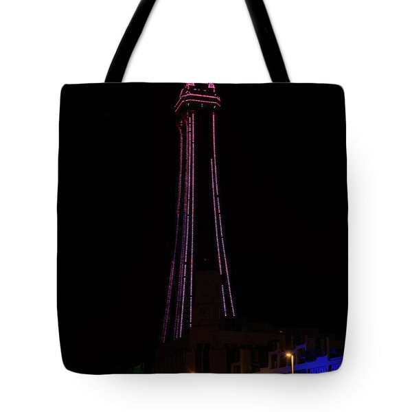 Blackpool Tower Pink Tote Bag by Steev Stamford