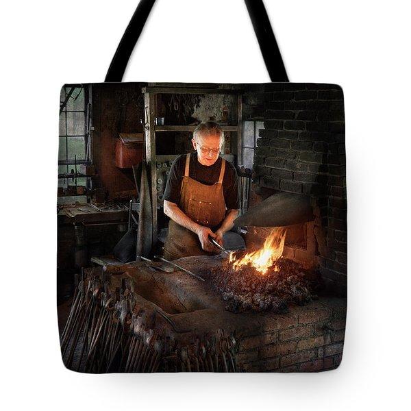 Blacksmith - Blacksmiths Like It Hot Tote Bag by Mike Savad