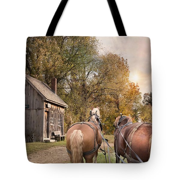 Tote Bag featuring the photograph Blacksmith Bound by Robin-Lee Vieira