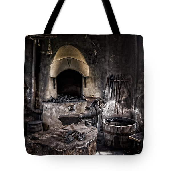 Blacksmiths Shop Tote Bag by Alan Raasch