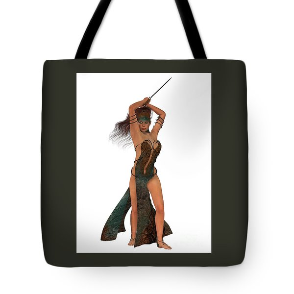 Blackthorn Rose Warrior Tote Bag