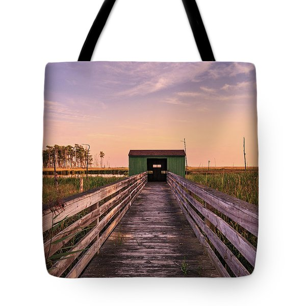 Tote Bag featuring the photograph Blackwater Blind by Jennifer Casey