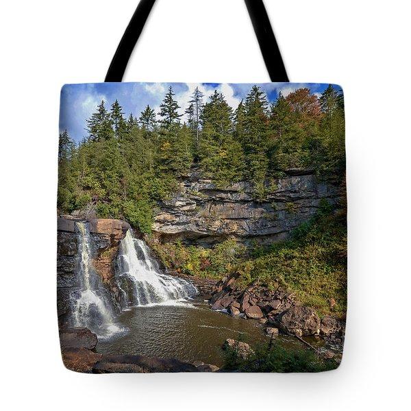 Blackwater Falls  In Autumn 3879c Tote Bag