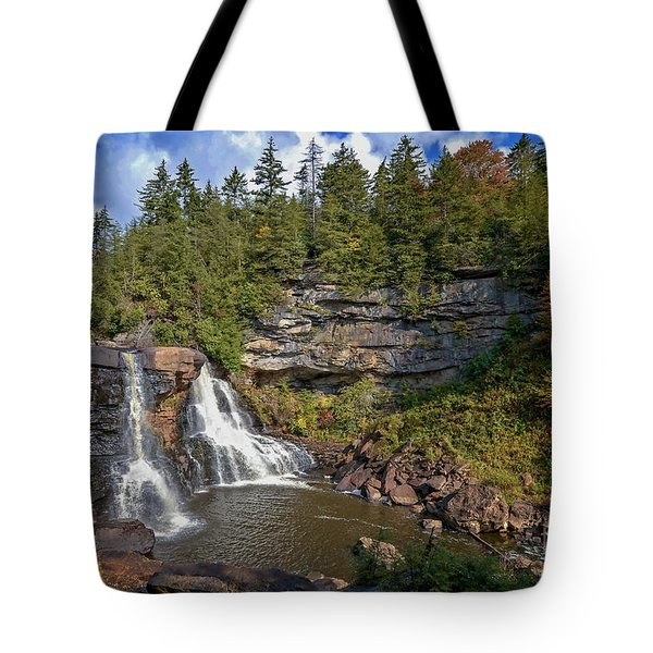 Blackwater Falls  In Autumn 3879c Tote Bag