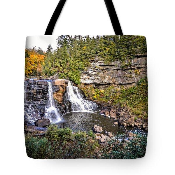 Blackwater Falls In Autumn3836c Tote Bag