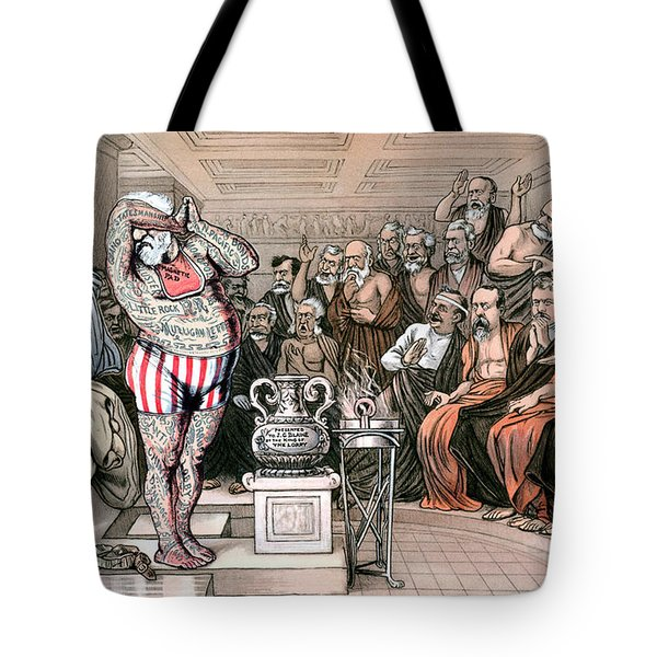 Blaine Cartoon, 1884 Tote Bag by Granger