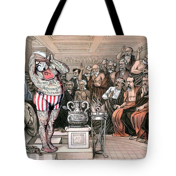 Blaine Cartoon, 1884 Tote Bag by Granger