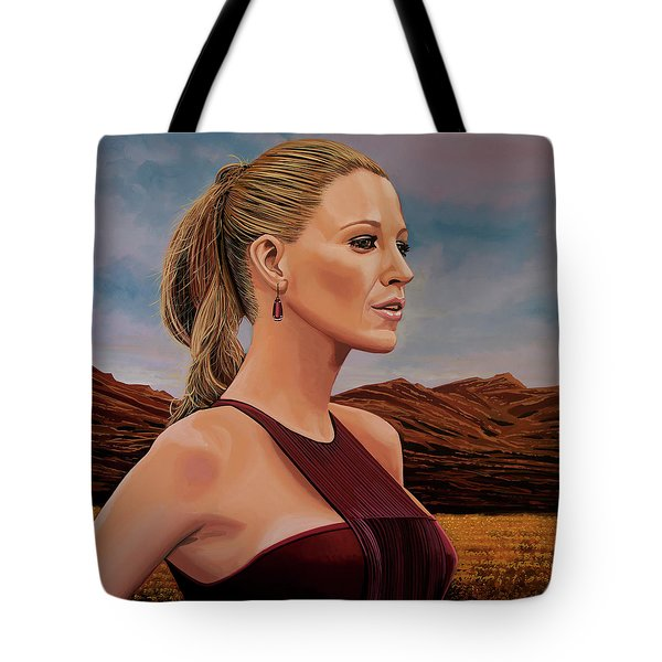 Blake Lively Painting Tote Bag by Paul Meijering