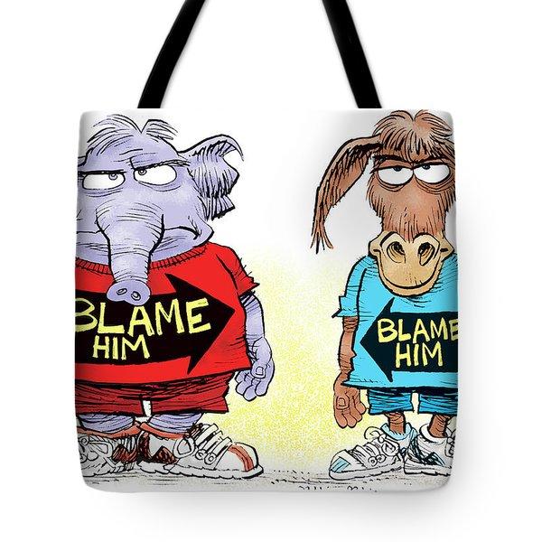 Blame Him Tote Bag