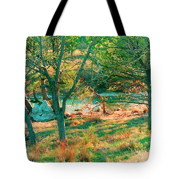Blanco River Texas Tote Bag