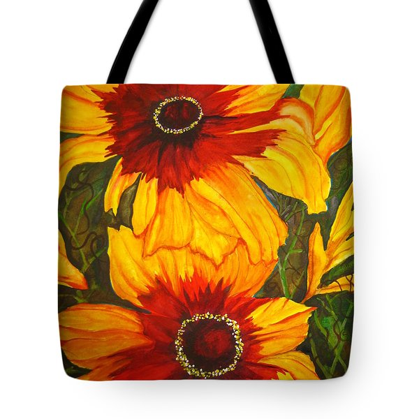 Blanket Flower Tote Bag by Lil Taylor